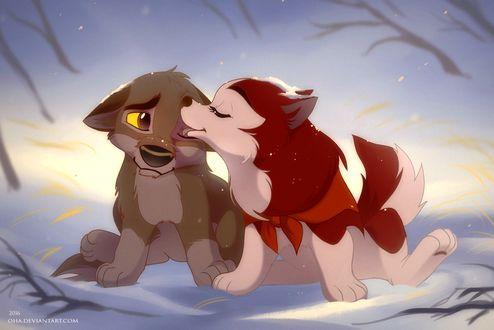 Фото Маленькие Балто и Дженна из мультфильма Балто / Balto