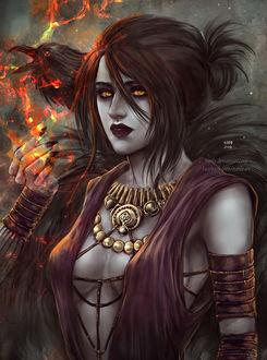 ���� Morrigan / �������� �� ���� Dragon Age, by NanFe