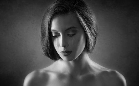 Фото Девушка со слезами на лице, фотограф Joachim Bergauer