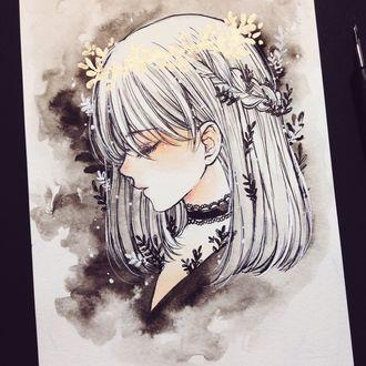 Фото Девушка в профиль с закрытыми глазами