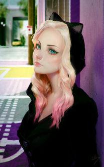 Фото Девушка в костюме кошки, by Julienт Lasbleiz