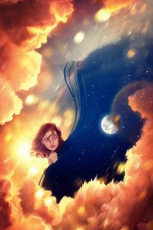 Фото Девушка в образе дня и ночи, by Rowye