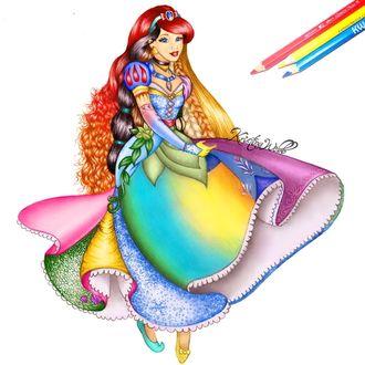 Фото Все принцессы Disney / Дисней в одном рисунке девушки
