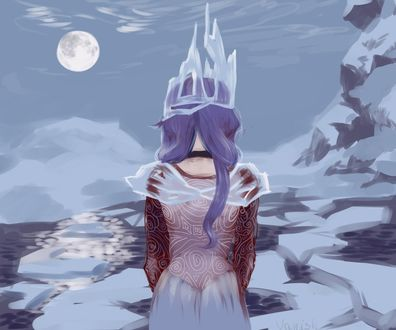 Фото Снежная Королева стоит, повернувшись спиной, сказка Снежная Королева, by Vanish