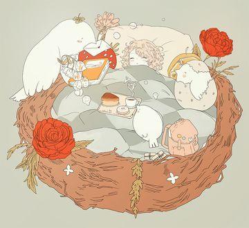 Фото Девушка спит в гнезде, by tofuvi