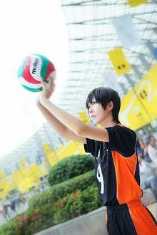 Фото Косплей Kageyama Tobio / Кагеяма Тобио из аниме Haikyuu! /Волейбол