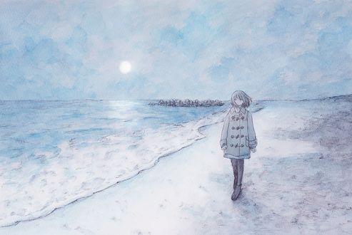 Фото Девушка на морском берегу, by natsumi