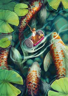 Фото Дюймовочка среди рыб, by IngridTan