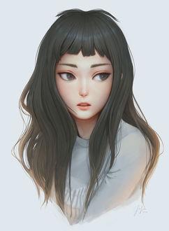 Фото Портрет девушки с серыми волосами, by Geo Siador