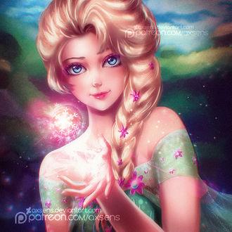 Фото Эльза / Elsa из мультфильма Холодное сердце / Frozen, by Axsens