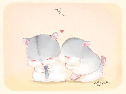 Фото Семейная пара хомяков, by 仮名ゆたか