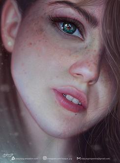 Фото Портрет девушки с отраженииеми в глазе, by Isaque P. G