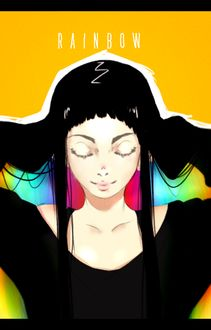 Фото Девушка с радугой под волосами, by 3-i (R A I N B O W)