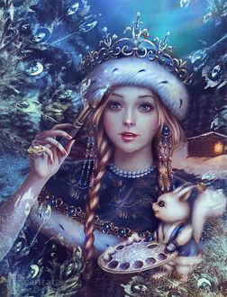 Фото Сказочная снегурочка с белочкой, by Incantata