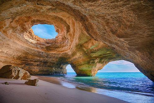 Фото Морская пещера в Алгарве, Португалия