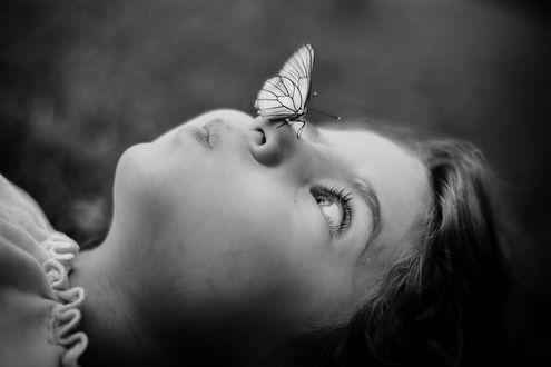 Фото Девочка с бабочкой на лице, фотограф Slavina Bahchevanova