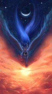 Фото Принцесса Луна / Princess Luna из мультсериала Мои маленький пони: Дружба - это чудо / My Little Pony: Friendship Is Magic, by blueSpaceling