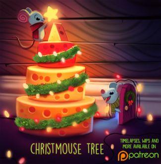 Фото Мышки наряжают елку из головок сыра, by Cryptid-Creations (Christmouse Tree)