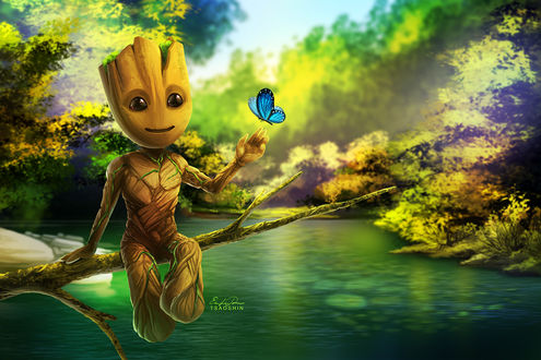 Фото Маленький Грут / Groot из фильма Стражи Галактики / Guardians of the Galaxy, by TsaoShin