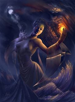 Фото Повелительница над волнами управляет Солнцем и Луной, by Liiga Smilshkalne