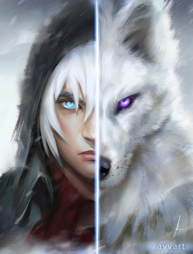 Рисунки волк черно белые