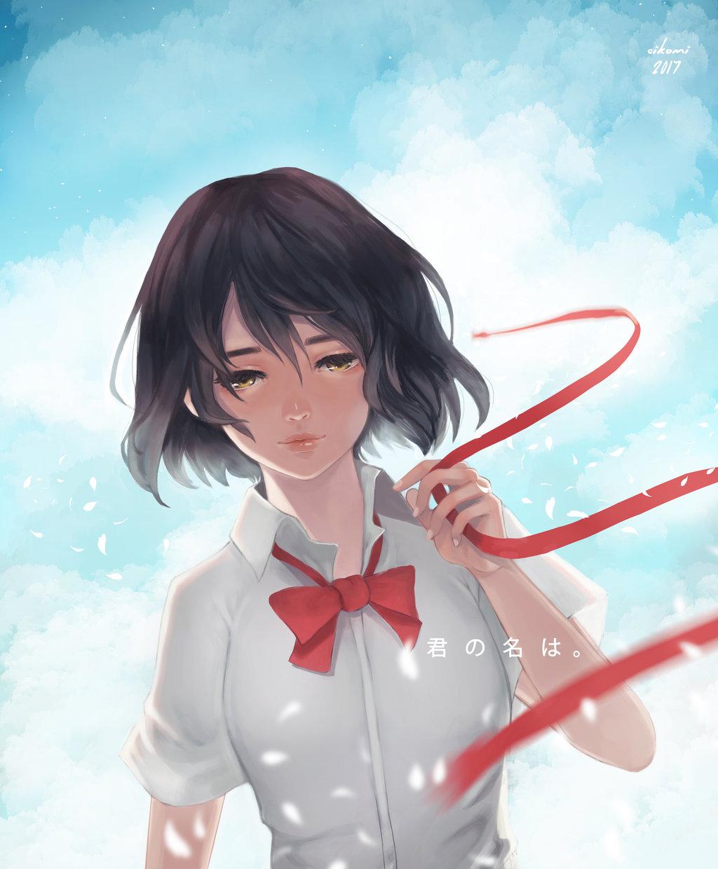 Фото Miyamizu Mitsuha / Миямизу Митсуха из аниме Kimi no Na wa / Твое имя, by Eikomi
