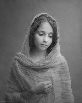 Фото Девочка в легком прозрачном одеянии в образе Девы, by Alina Mayboroda