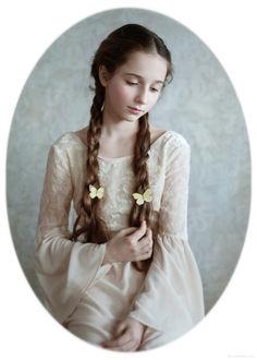 Фото Портрет девочки с бабочками на косичках, by Alina Mayboroda