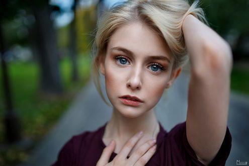 Фото Девушка с голубыми глазами, фотограф Максим Матвеев