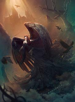 Фото Девушка в образе черного ангела, by zacky7avenged