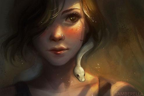 Фото Девушка со змеей, by TamberElla