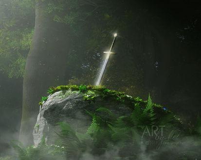 Фото Экскалибур в камне, by Art-By-Mel-DA