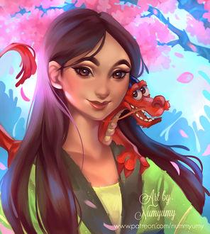 Фото Mulan / Мулан и Mushu / Мушу из мультфильма Mulan / Мулан, by NUMYUMY