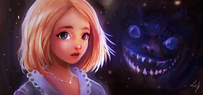 Фото Alice / Алиса и Cheshire Cat / Чеширский Кот из сказки Alice in Wonderland / Алиса в стране чудес, by Ludmila-Cera-Foce
