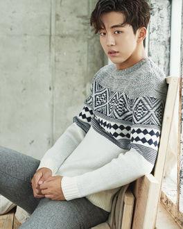 Фото Южнокорейский актер и модель Нам Чжу Хек / Nam Joo Hyuk (남주혁) в свитере