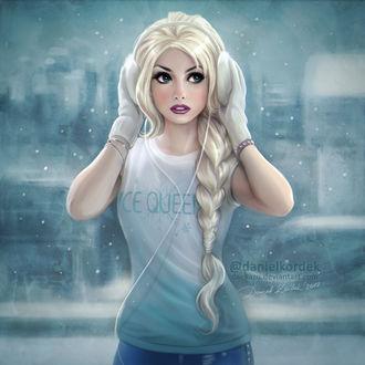 Фото Elsa / Эльза из мультфильма Frozen / Холодное сердце, by daekazu