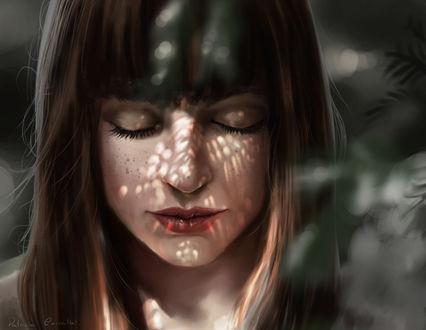 Фото Девушка с закрытыми глазами, by Patricia-Crvl