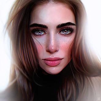 Фото Портрет девушки с красивыми глазами, by Julia Razumova