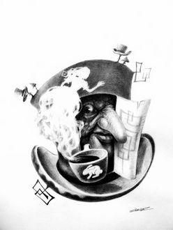 Фото Безумный шляпник / Mad Hatter / из сказки Алиса в стране чудес / Alice in Wonderland, рисунок Сергея Загаровского