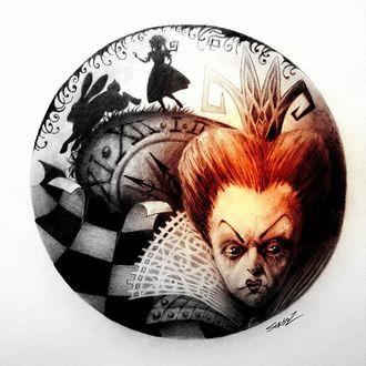Фото Черная или Червонная Королева / The Red Queen из сказки Алиса в стране чудес / Alice in Wonderland, рисунок Сергея Загаровского