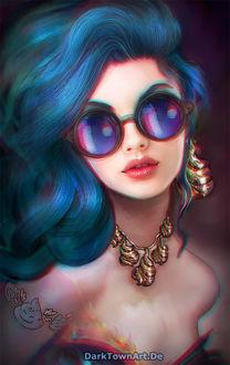 Фото Девушка в голубых очках, by Anne Pogoda