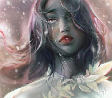 Фото Девушка со слезой на лице, by zephy0