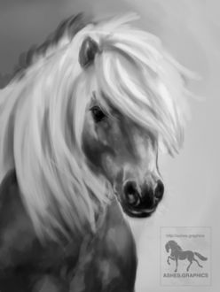 Фото Рисованная лошадь, by neznia