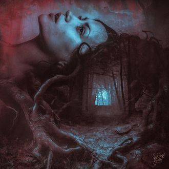 Фото Девушка, оплетенная корнями деревьев, в которой в голове темный лес и выход на свет, by Peter Brownz Braunschmid