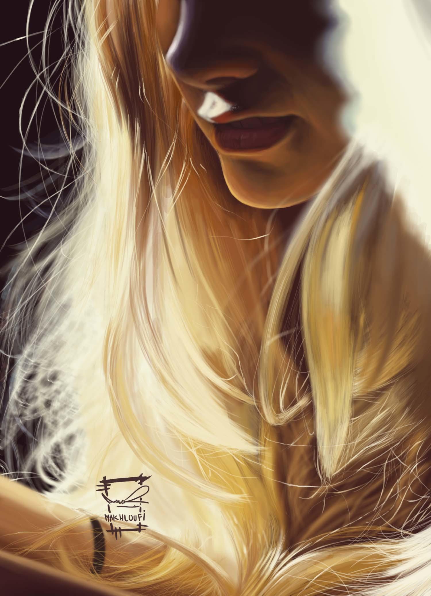 Картинки блондинка рисунок