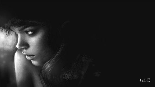 Фото Черно-белый портрет грустной девушки, by Leon-Adama