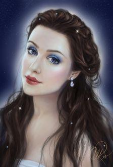 Фото Портрет красивой девушки с выразительными глазами с украшениями, by Selenada (Selene Regener)