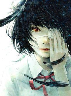 Фото Мисаки Мей / Misaki Mei с повязкой на глазу из аниме Иная / Another