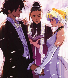 Фото Свадьба Симона / Simon и Nia Teppelin / Ния Тэппелин из аниме Tengen Toppa Gurren-Lagann / Гуррен Лаганн