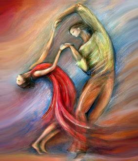 Фото Танцующие парень и девушка
